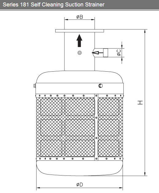 Series 181 Self Cleaning Suction Strainer